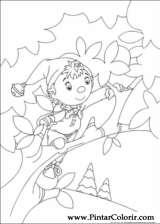 Pintar e Colorir Noddy - Desenho 019