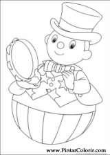 Pintar e Colorir Noddy - Desenho 034