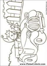 Pintar e Colorir Noddy - Desenho 076