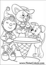 Pintar e Colorir Noddy - Desenho 129