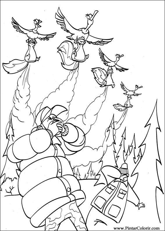 desenhos para pintar e colorir o bicho vai pegar imprimir desenho 032