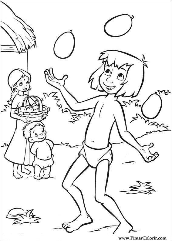 Disegni A Dipingere E Colori Il Libro Della Giungla 2 Print Design 002