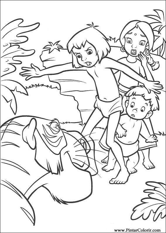 Dibujos Para Pintar Y Color El Libro De La Selva 2 Diseño