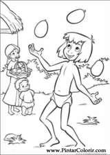Pintar e Colorir O Livro Da Selva 2 - Desenho 002