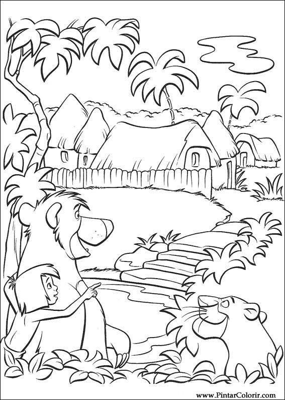 Dibujos Para Pintar Y Color El Libro De La Selva Diseño De