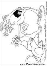 Pintar e Colorir O Livro Da Selva - Desenho 012