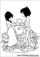 Pintar e Colorir O Livro Da Selva - Desenho 016