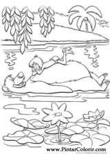 Pintar e Colorir O Livro Da Selva - Desenho 025