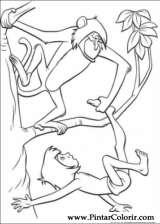 Pintar e Colorir O Livro Da Selva - Desenho 026