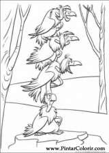Pintar e Colorir O Livro Da Selva - Desenho 035