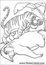 Pintar e Colorir O Livro Da Selva - Desenho 042