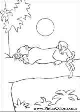 Pintar e Colorir O Livro Da Selva - Desenho 053