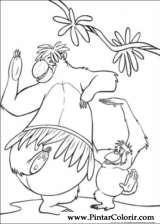 Pintar e Colorir O Livro Da Selva - Desenho 056