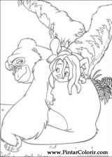 Pintar e Colorir O Livro Da Selva - Desenho 059