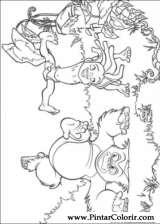 Pintar e Colorir O Livro Da Selva - Desenho 060