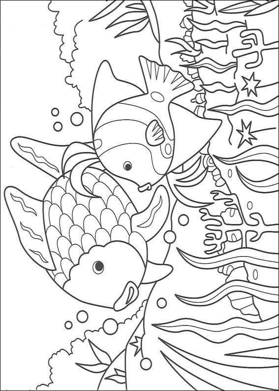 Dibujos Para Pintar Y Color El Pez Arco Iris Diseño De