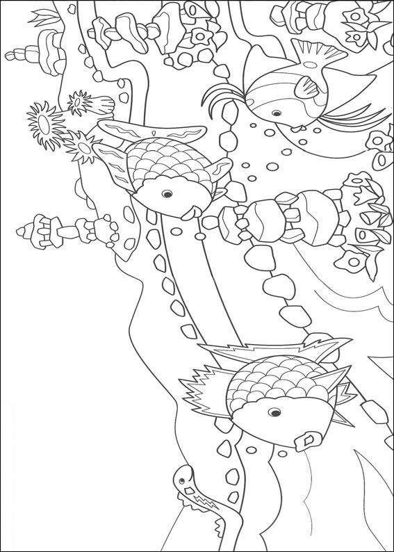 Dessins De Peindre Couleur Le Rainbow Fish Imprimer Conception 005