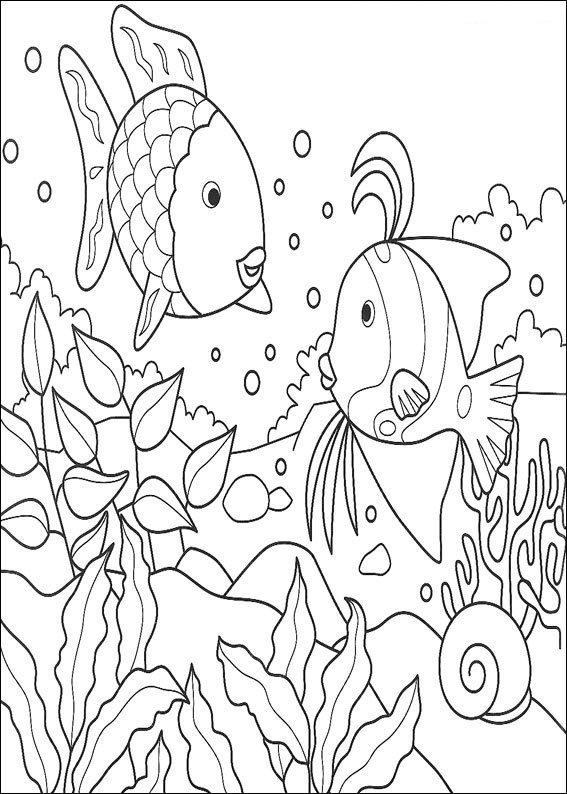 Desenhos Para Pintar E Colorir O Peixe Arco Iris Imprimir