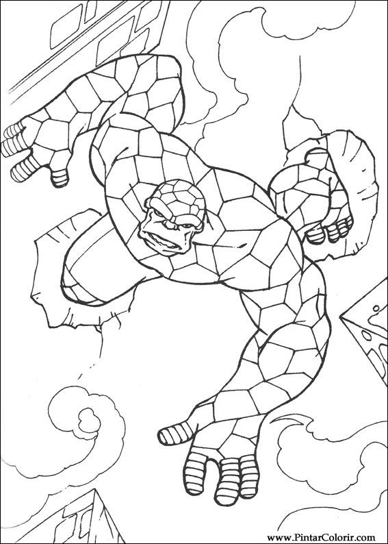 Drawings To Paint Colour The Quartet Fantastico Print Design 033