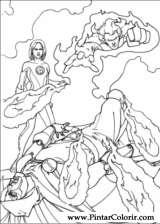 Pintar e Colorir O Quarteto Fantastico - Desenho 003