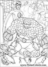 Pintar e Colorir O Quarteto Fantastico - Desenho 008