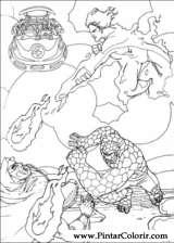 Pintar e Colorir O Quarteto Fantastico - Desenho 023