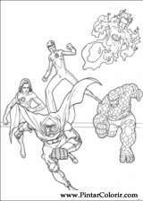 Pintar e Colorir O Quarteto Fantastico - Desenho 029