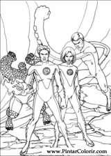 Pintar e Colorir O Quarteto Fantastico - Desenho 048