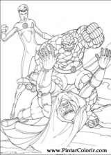 Pintar e Colorir O Quarteto Fantastico - Desenho 080