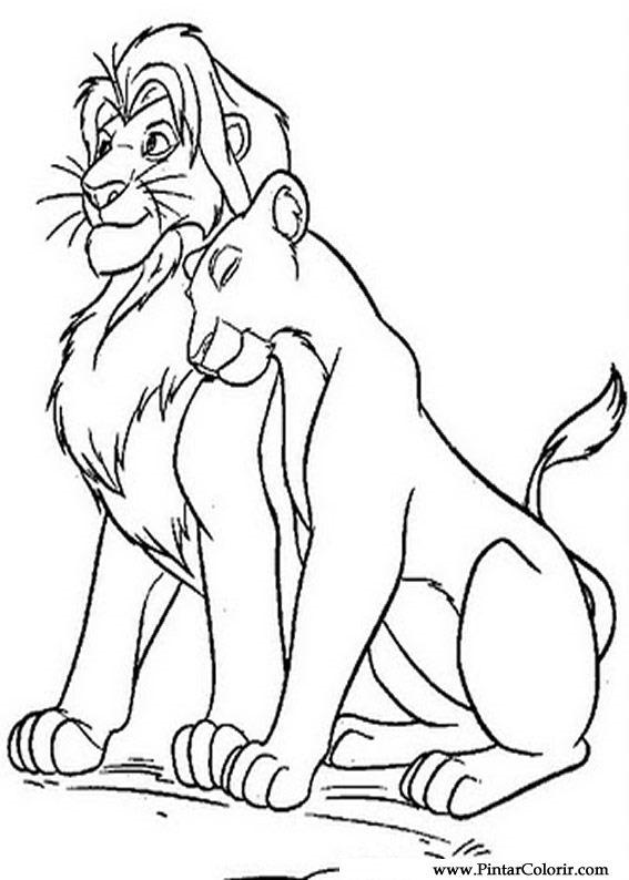 Dibujos Para Pintar Y Color Rey León 3 Diseño De Impresión 007