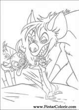 Pintar e Colorir O Rei Leao 3 - Desenho 005
