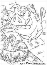 Pintar e Colorir O Rei Leao 3 - Desenho 008