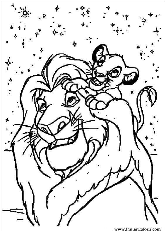 Desenhos Para Pintar E Colorir O Rei Leao Imprimir Desenho 003