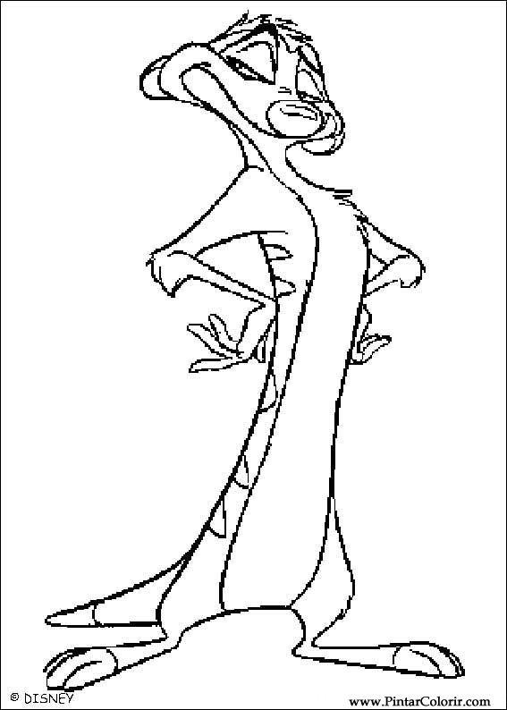 Desenhos Para Pintar E Colorir O Rei Leao Imprimir Desenho 005