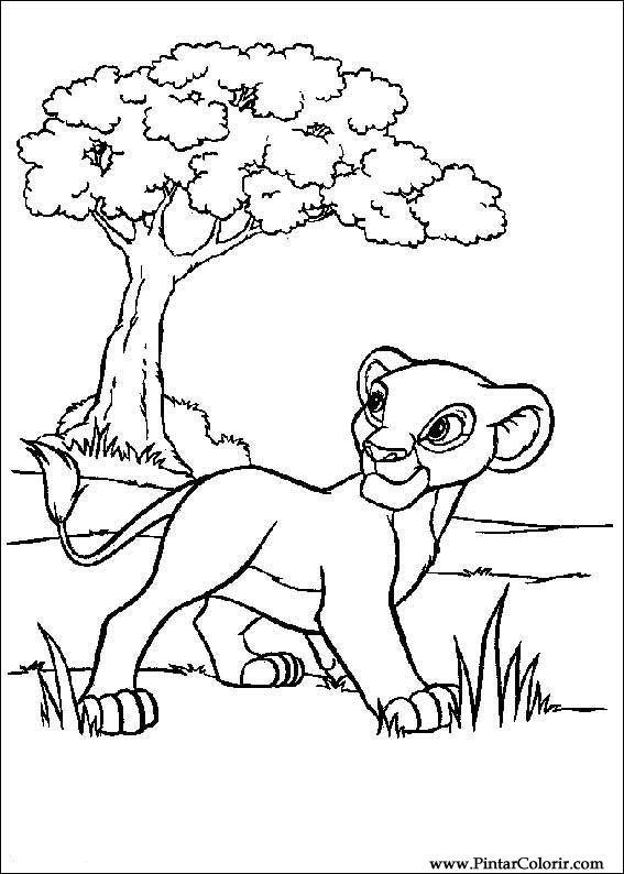 Desenhos Para Pintar E Colorir O Rei Leao Imprimir Desenho 013