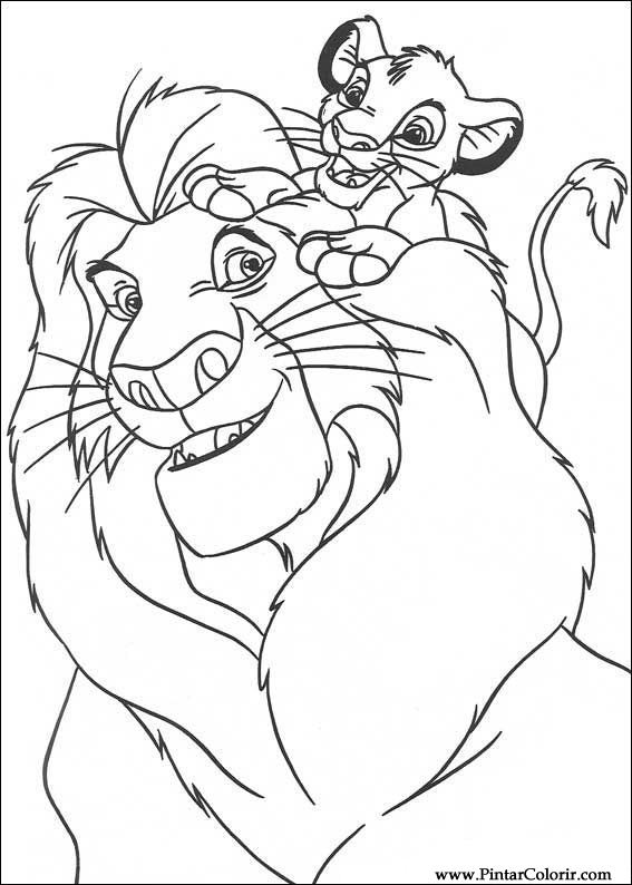 çizimler Boya Ve Renk Kral Leo Için Baskı Tasarım 026