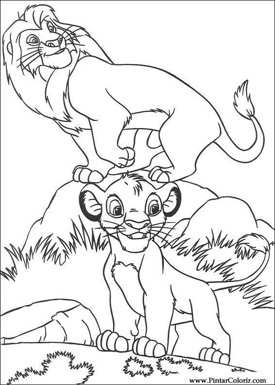 Desenhos Para Pintar E Colorir O Rei Leao Imprimir Desenho 027