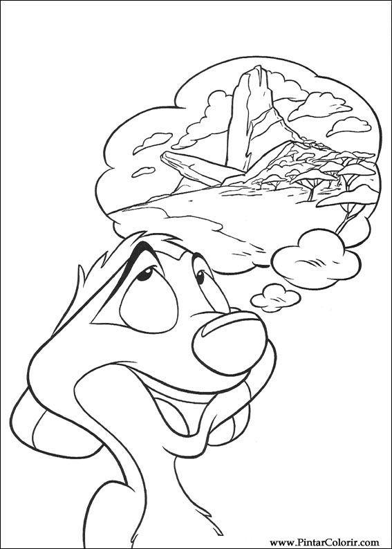 Desenhos Para Pintar E Colorir O Rei Leao Imprimir Desenho 043