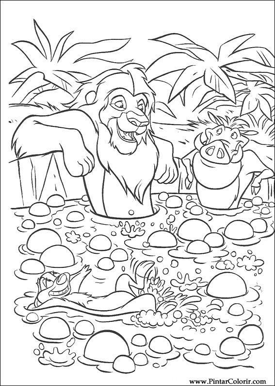 Desenhos Para Pintar E Colorir O Rei Leao Imprimir Desenho 061