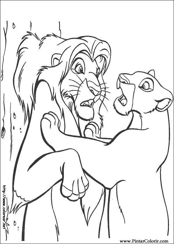 Desenhos Para Pintar E Colorir O Rei Leao Imprimir Desenho 067