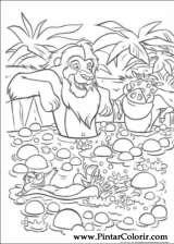 Pintar e Colorir O Rei Leao - Desenho 061