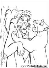 Pintar e Colorir O Rei Leao - Desenho 067