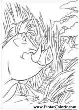 Pintar e Colorir O Rei Leao - Desenho 068