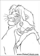 Pintar e Colorir O Rei Leao - Desenho 069