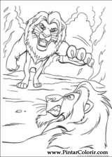 Pintar e Colorir O Rei Leao - Desenho 080