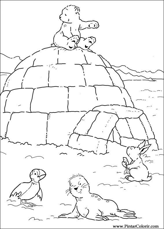 Dibujos Para Pintar Y Color Oso Polar Diseno De Impresion 032