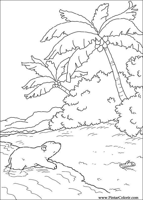 Desenhos Para Pintar E Colorir O Ursinho Polar Imprimir Desenho 042