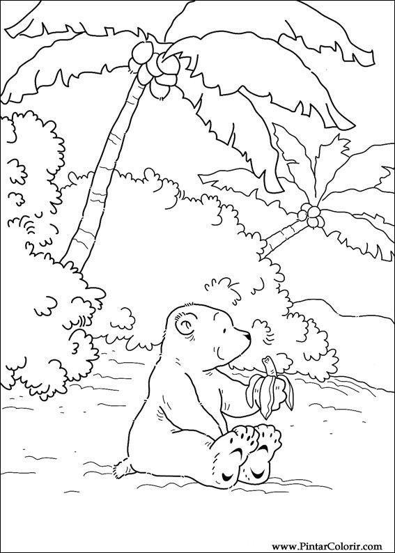 Desenhos Para Pintar E Colorir O Ursinho Polar Imprimir Desenho 046
