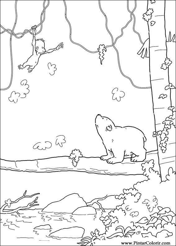 Desenhos Para Pintar E Colorir O Ursinho Polar Imprimir Desenho 050