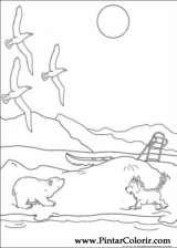 Pintar e Colorir O Ursinho Polar - Desenho 004